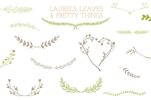 Check out Laurel Frames, Leaves, And Stems by angiemakes on Creative Market