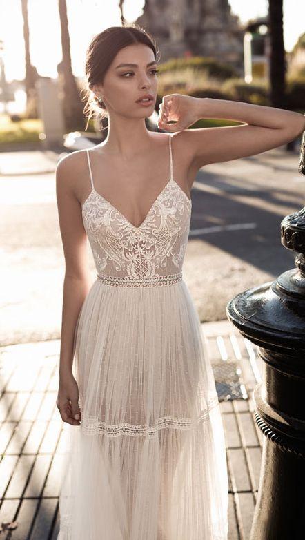 Featured Dress: Gali Karten Bridal Couture; Wedding dress idea.
