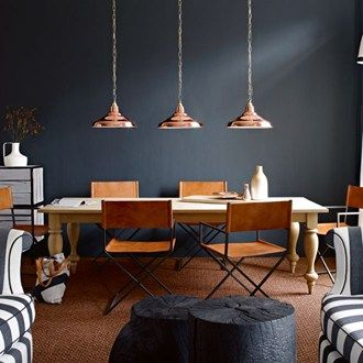 Dark colour doesn't mean gloom - in fact it spells drama, warmth and atmosphere