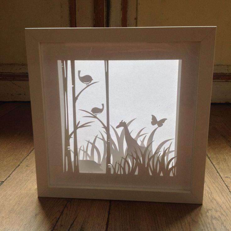 Shadow box made with my Cameo