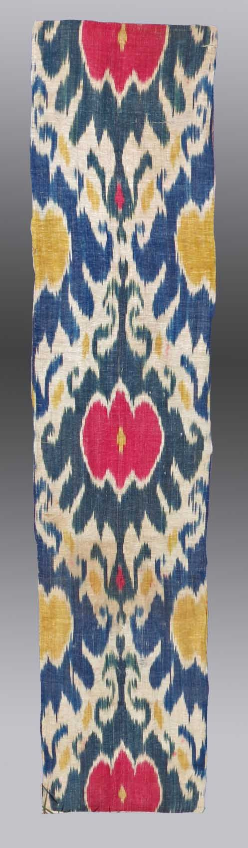 Fabric moreover teal ikat curtain panels on home decor fabric ikat - Vintage Home Decor Antique Uzbek Ikat Panel Wall Hanging Central Asia 19th C 1 5 X 4 2 Exluding The Mount