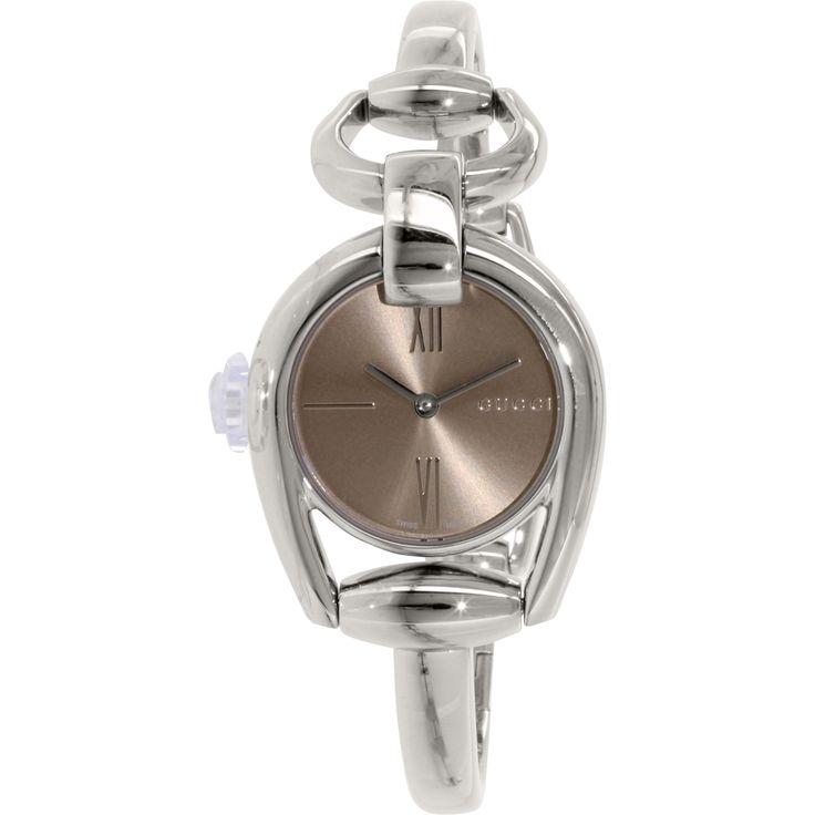 Gucci Women's YA139501 'Horsebit' Swiss Quartz Bangle Watch