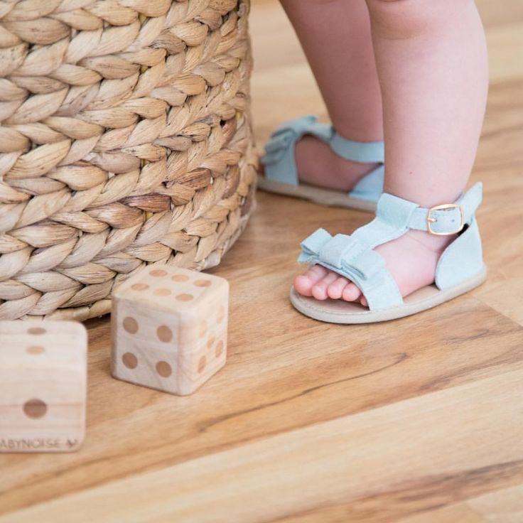 Sky Blue Summer sandals in soft sole from www.sadiebaby.com.au
