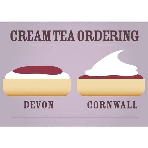 Devon vs Cornwall -- England - travel - cream tea - clotted cream