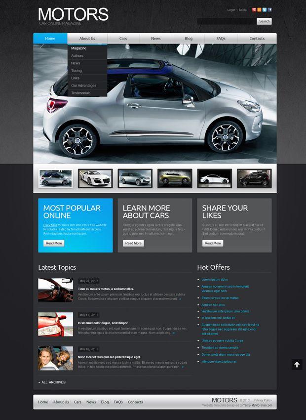 Free Website Template Joomla Car Theme #joomla #webdesign