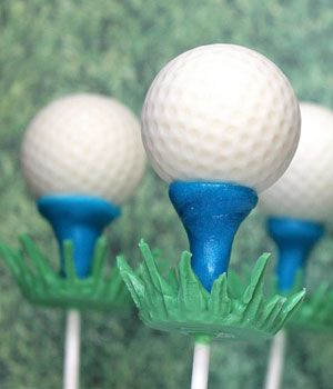 Father's Day Treat!   golf-ball-cake-pops