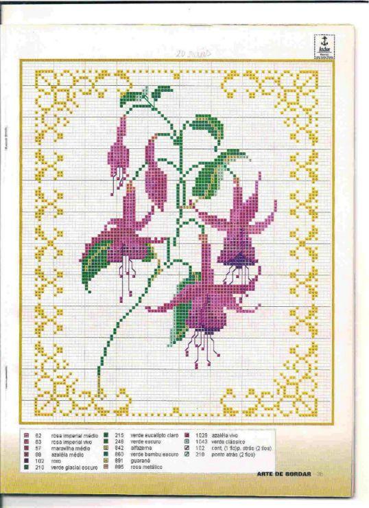 Fuchsia Cross stitch chart
