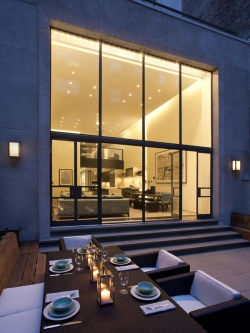NY townhouse: Interior Design, Ideas, Outdoor Dining, Outdoor Living, Window, Exterior, Dream House, Upper East Side