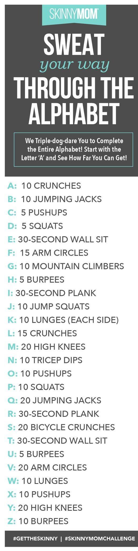 Sweat Your Way Through Alphabet To Hourglass Body