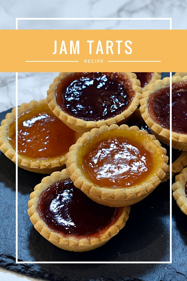Jam Tarts. Classic little tarts, filled with strawberry, raspberry or apricot jam, just like Granny used to make!