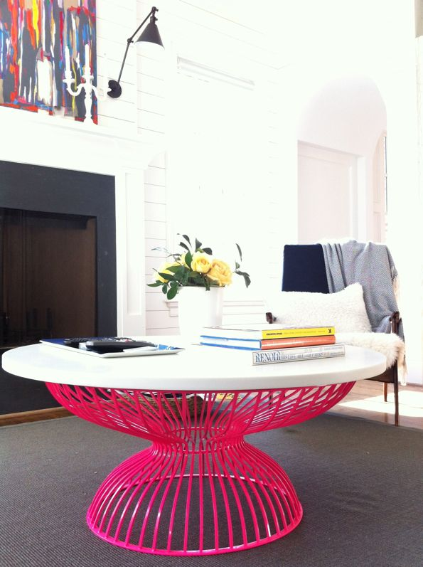 cool funky pink coffee table