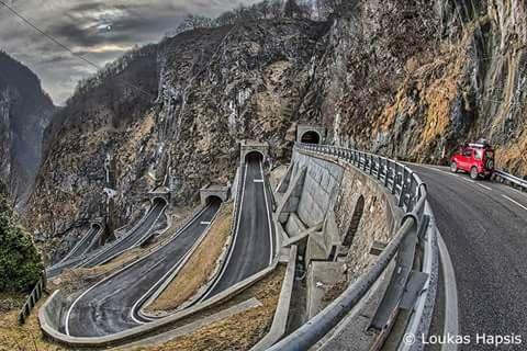San Boldo Pass Venetia Italy