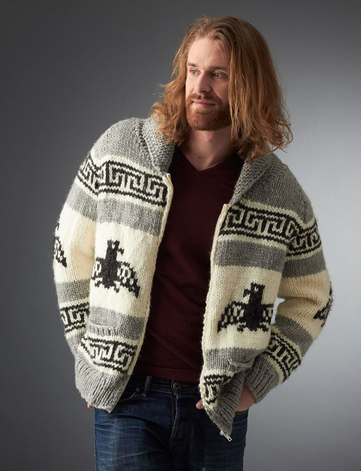 I'm the Dude Jacket ~ intermediate ~ XS to 5XL sizes ~ KNITTED pattern