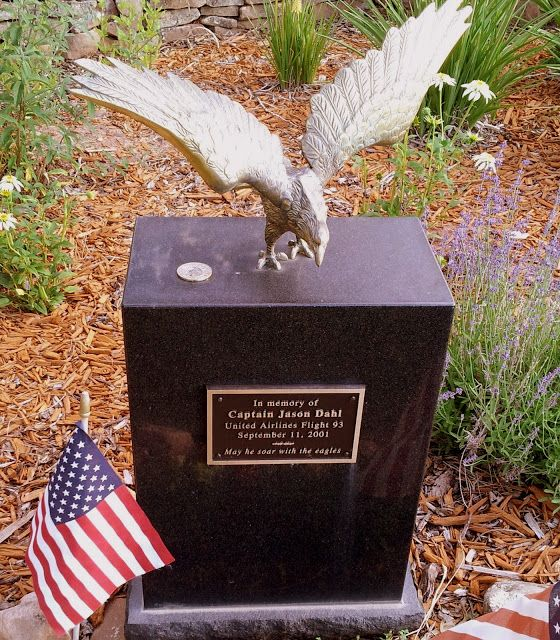Memorial to Captain Jason Dahl--pilot of United Flight 93 that went down in a field in Pennsylvania on 9-11-01