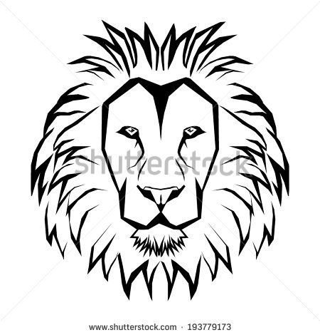 17 best Lion Face Tattoo Outlines images on Pinterest ...