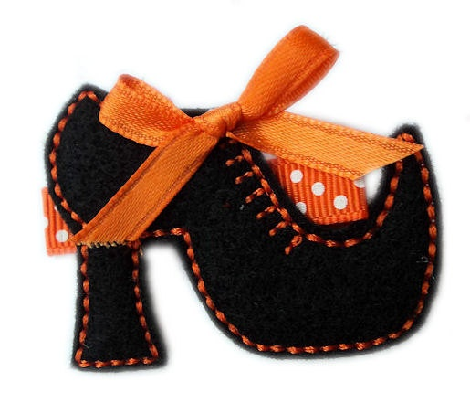 FELT Witch's Shoe HALLOWEEN Hair Clip So CUTE  by HairBowHolders, $4.95