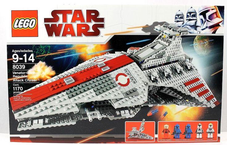 NISB Lego Star Wars 8039 VENATOR-CLASS REPUBLIC ATTACK CRUISER 4540025 Palpatine