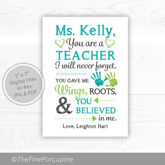 Teacher Appreciation Printable World Teachers Day Teacher Gift