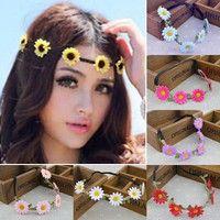 Wish | Boho Daisy Chain Festival Headband Hair Band Flower Wedding Prom Hippie Gift