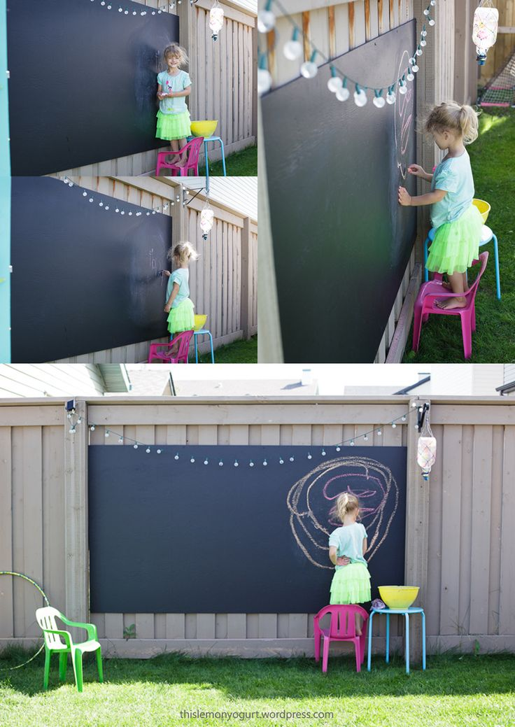 Backyard Chalkboard {this lemon yogurt}