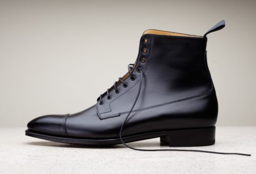 Handmade men black leather boots, dress boots for men, men ankle high boots