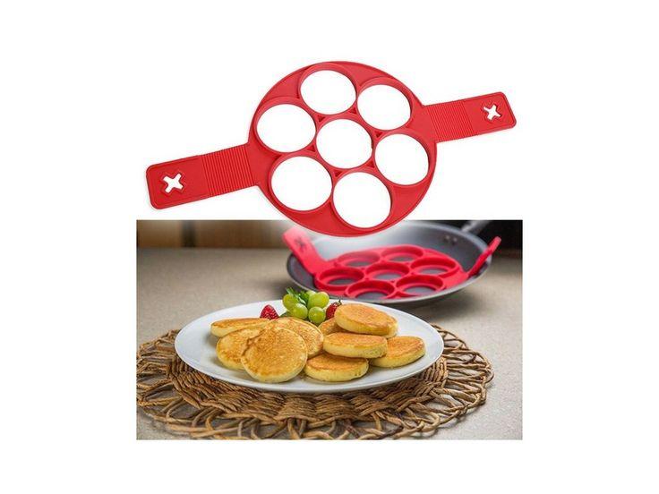 Silikonová forma na 7 lívanců/ omelet. Velmi jednoduchá příprava lívanců nebo vajíček!