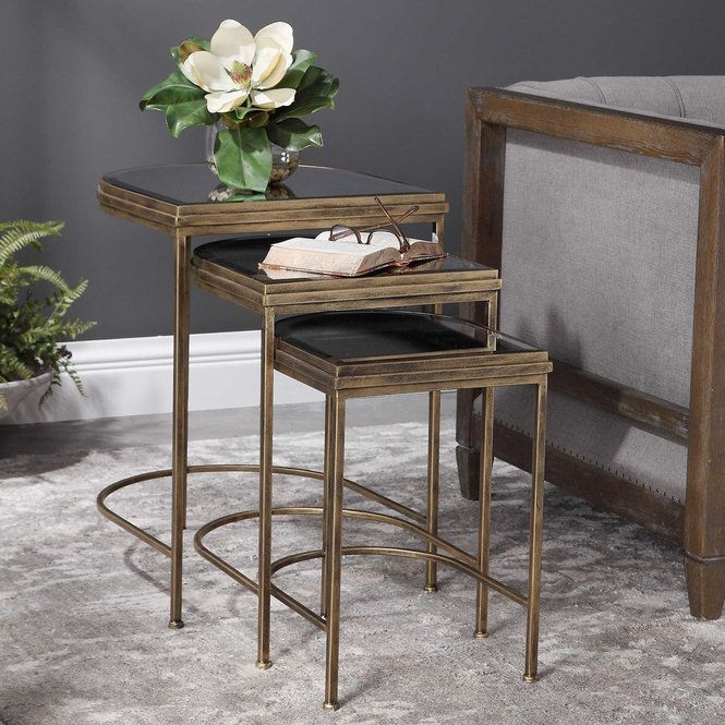 Arch Nesting Table Set Of 3 In 2020 Nesting Tables Uttermost Furniture Furniture