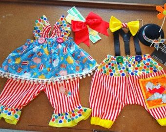 Boys Circus Outfit Baby Clown Costume 1st Birthday