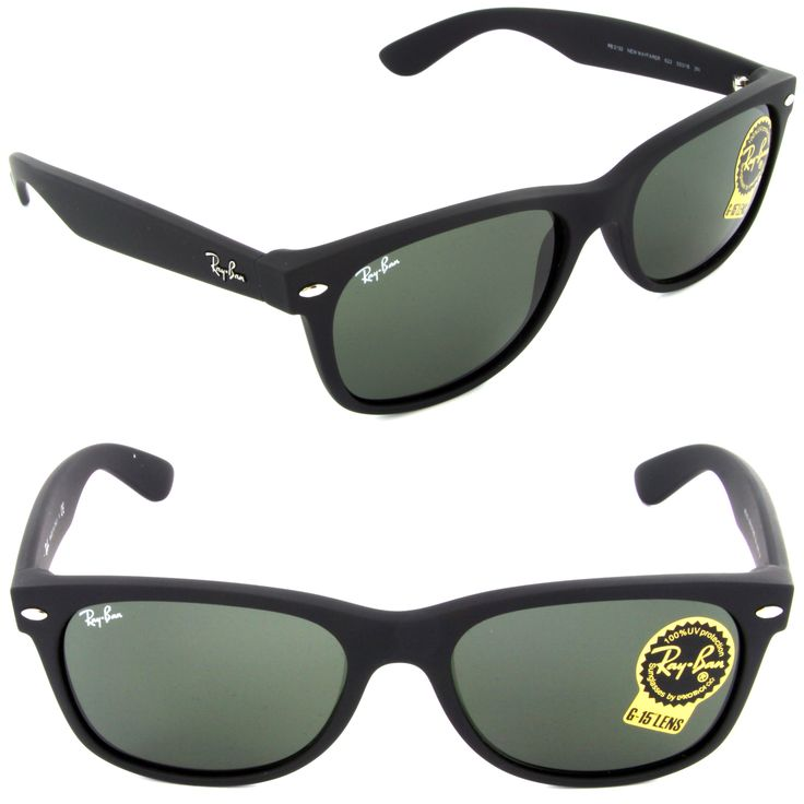 new ray ban rb 2132 622 new wayfarer sunglasses black rubber lens clothing shoes accessories mens accessories sunglasses fashion eyewear