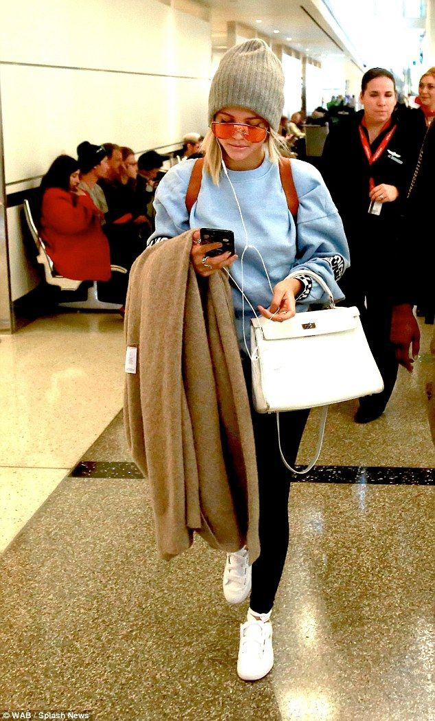 Stunner: Sofia Richie proved she is as cool as they come as she jetted from LAX airport to Paris with her manager Alex Avant on Saturday, before documenting her long-haul journey with her 1.8million Instagram followers