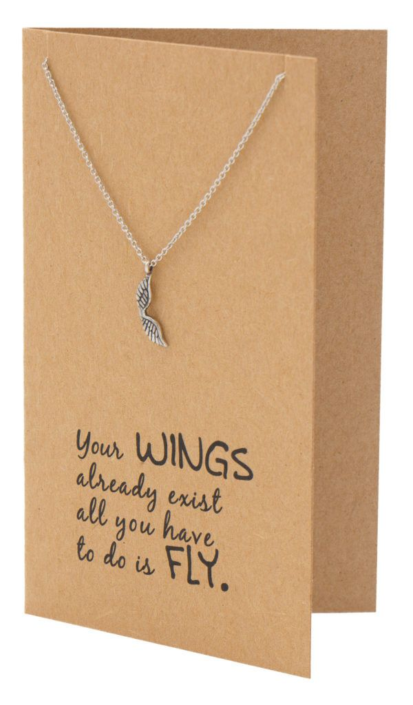 Adannaya Graduation Gifts for Her, Wing Necklace, Graduation Jewelry,  - Quan Jewelry - 2