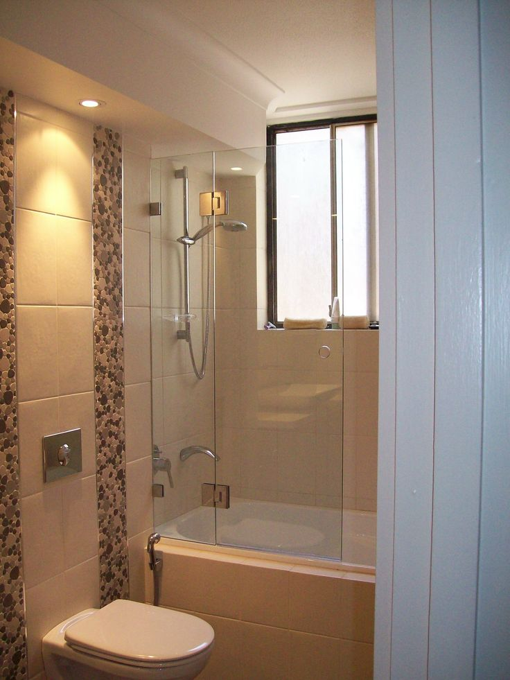 Great use of space combining the shower and bath
