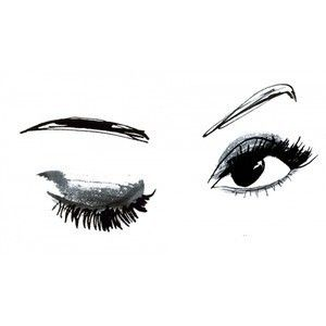 Simple sketch Lots of lashes