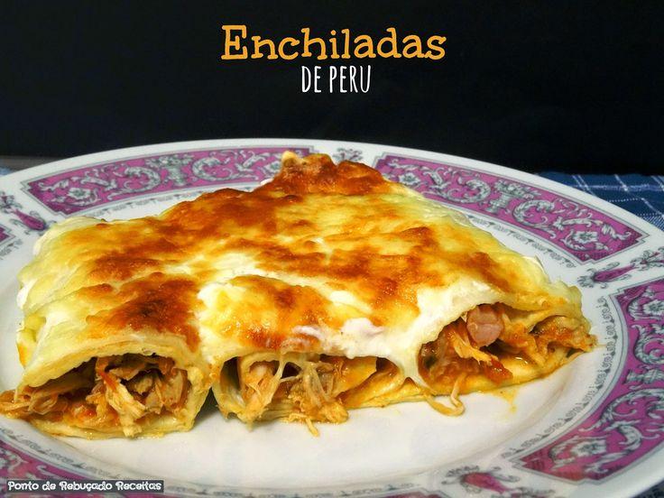 Turkey enchiladas (Christmas leaftovers)