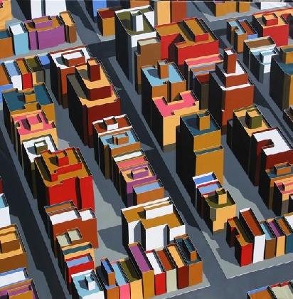 Miguel Angel Iglesias Fernandez's architectural paintings @ N2 Gallery.