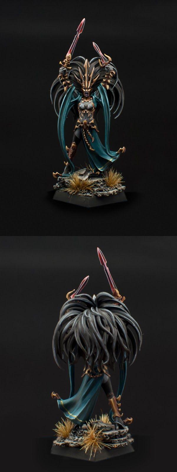 Warhammer FB   Dark Elves   Dark Elve Queen of Blades #warhammer #ageofsigmar…