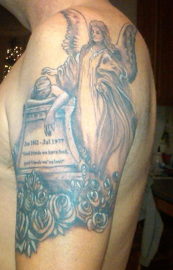 TATOOS OF ANGELS | 25 Endearing In Loving Memory Tattoos - SloDive