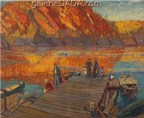 Arthur Lismer,  Autumn Bon Echo Fine Art Reproduction Oil Painting