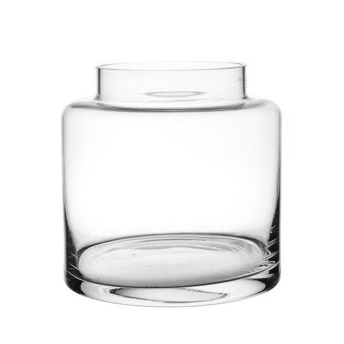 VASE Glass Squat Square 18x19cm | Wheel&Barrow Homewares