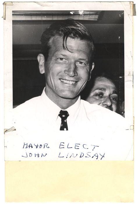 Mayor Elect John Lindsay