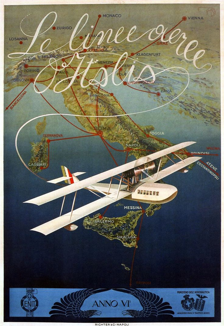 Le linee aeree d'Italia, Mario Borgoni, 1927