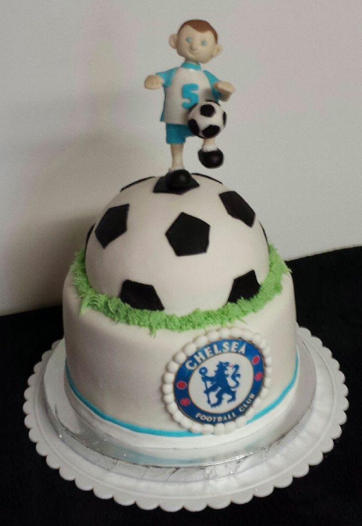 Soccer Themed Birthday Cake Chocolate Cake With Vanilla