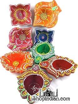 Assorted Diwali Diyas