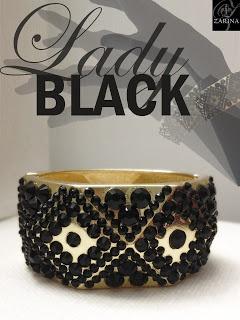 Brazalete Lady Black  Cristal Swarovski  Exclusive by ZARINA  Info.zarinadesigns@gmail.com