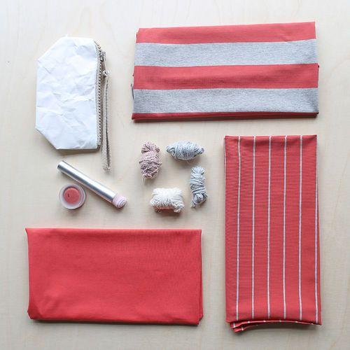 Maxi Stripes, Pepper - Light Melange Gray | NOSH Women Autumn 2016 Fabric Collection is now available at en.nosh.fi | NOSH Women syysmalliston 2016 uutuuskankaat saatavilla verkosta nosh.fi