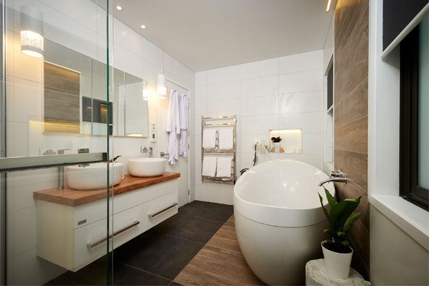 Check out the Freedom Furniture products used in Jo and Damo's bathroom...