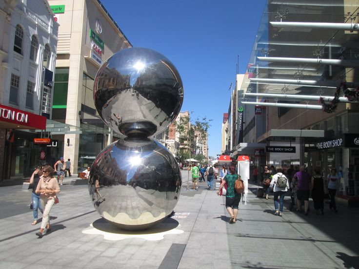 """Adelaide - Rundle Mall, The Spheres - Also known as """"The Mall's Balls"""""""