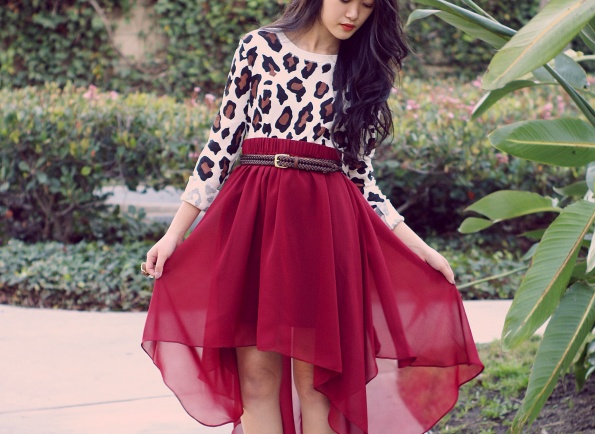 Mullet Skirts: Beauty: The Colors Red, High Low Skirts, Highlow, Outfit, Animal Prints, Leopards Prints, Fashion Looks, Cheetahs Prints, Red Skirts