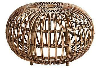 Handcrafted wicker.