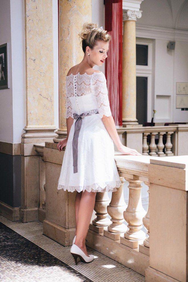Brautkleid von küssdiebraut über MARRYJim.com Kurz und perfekt fürs ...